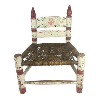 Folk Art Hand Painted Child's Chair