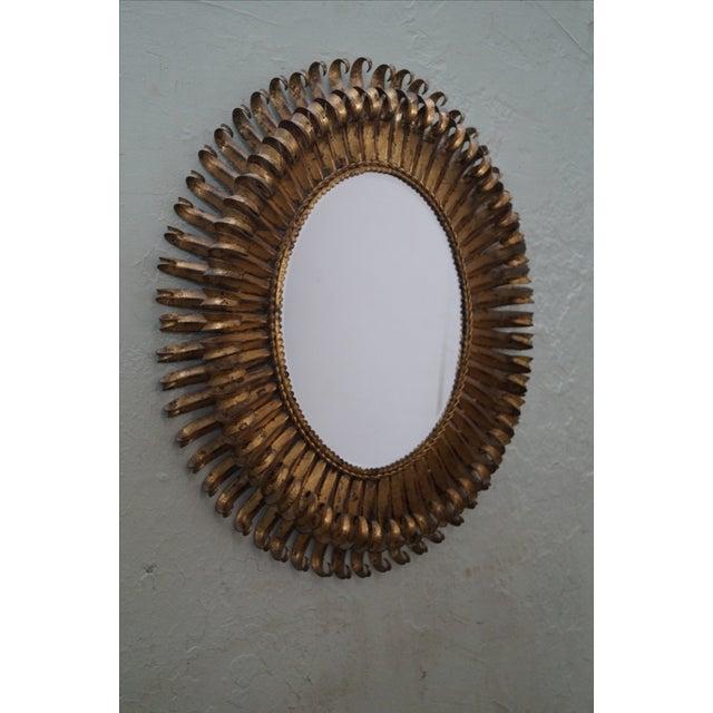 1960s Italian Oval Sunburst Mirror - Image 10 of 10