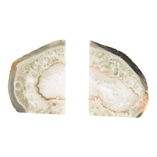 Natural Geode Bookends- A Pair