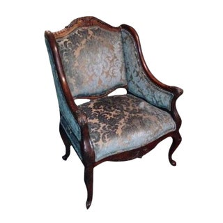 Handcrafted French Louis XV Style Bergere Chair