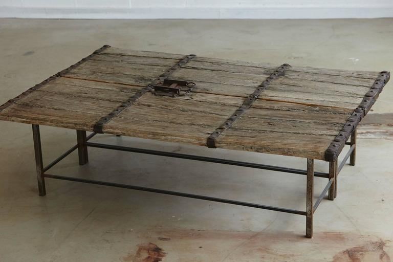 Superb Low Antique Chinese Gate Doors Coffee Table on CustomMade