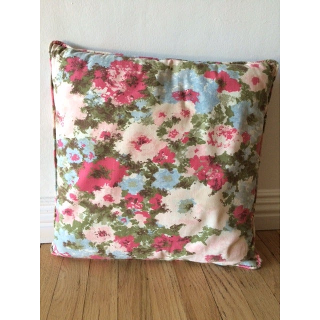 Vintage Floral Pillows - Pair - Image 3 of 3