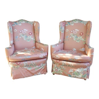 Queen Anne Club Chairs - A Pair
