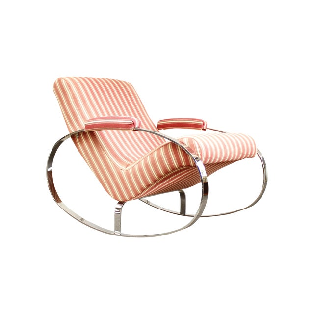 Guido Faleschini Mid-Century Chrome Rocking Chair - Image 1 of 9
