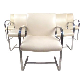 Mid-Century Modern Mies van der Rohe Brno Style Dining Chairs