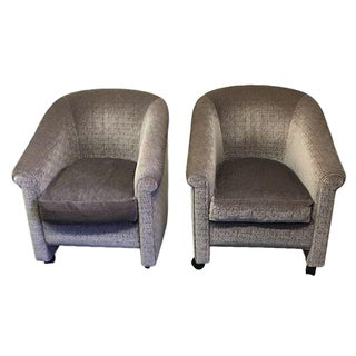 Custom A. Rudin Mohair Game Chairs - A Pair