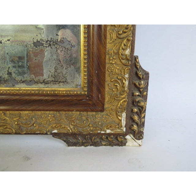 Antique Gilded Mirror - Image 6 of 7