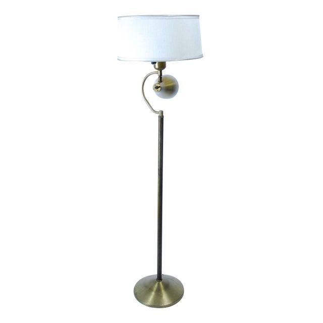 Floor Lamps Spotlight : S brass floor lamp with integrated spotlight chairish
