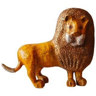 Paper Mâché Lion Sculpture by Jean Valentine