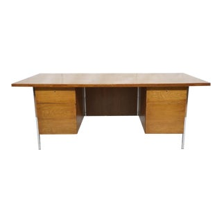 Knoll International Large Modern Executive Desk with Original Knoll Label
