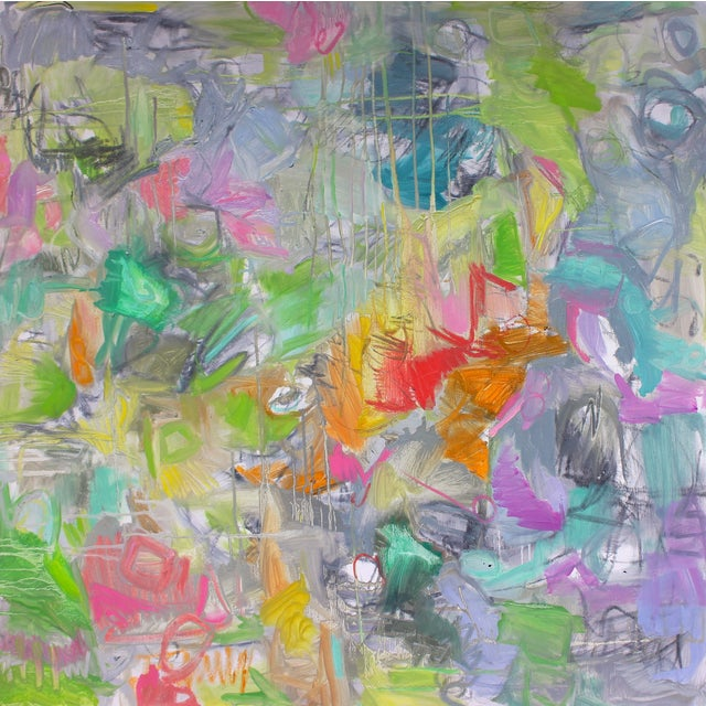 """""""Birds of a Feather""""Abstract Trixie Pitts 36""""x36"""" - Image 1 of 2"""