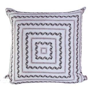 Vintage Silk White Bandana Pillow