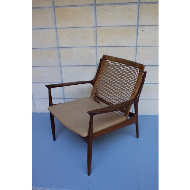 Image of Kofod Larsen Cane Back Lounge Chair