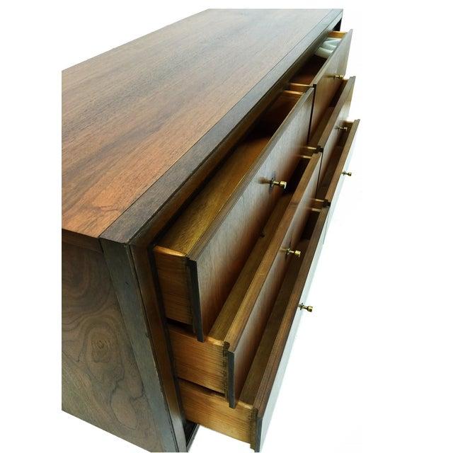 Mid Century Modern Walnut Six Drawer Dresser - Image 3 of 4
