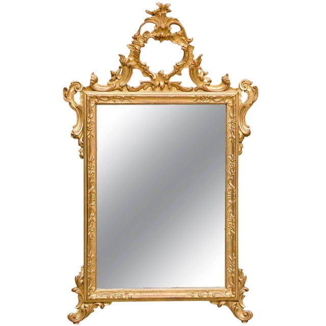 Italian Hand-Carved Rococo Gilt Mirror - Image 1 of 6