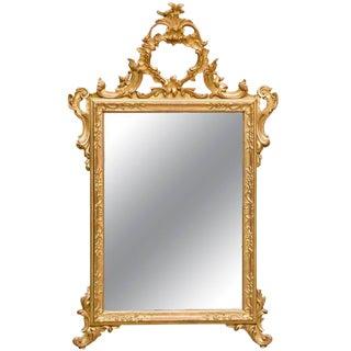 Italian Hand-Carved Rococo Gilt Mirror