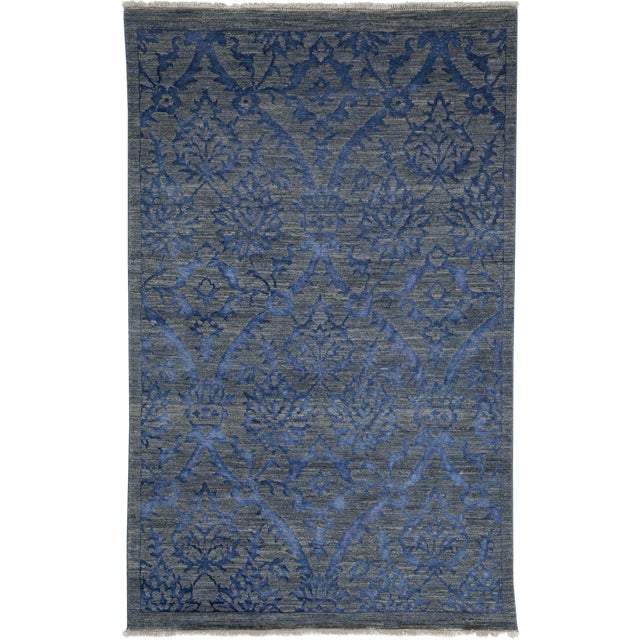 """Contemporary Hand Knotted Area Rug -- 4' X 6'5"""" - Image 1 of 3"""