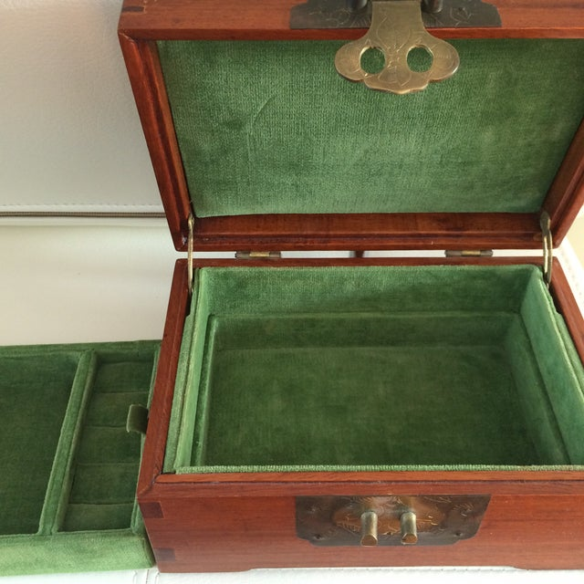 Vintage Chinese Rosewood & Brass Box - Image 6 of 6