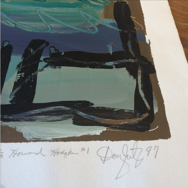 Homage to Howard Hodgkin #1 Painting - Image 4 of 6