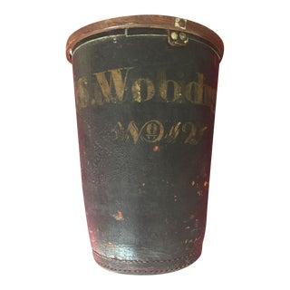 "Vintage ""Woodruff"" Leather Fire Water Bucket"