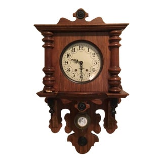 Vintage P. F. Bollenbach Eight Day Wall Clock