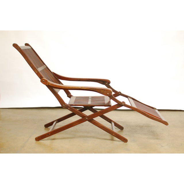 Antique Ocean Steamer Deck Chair - Image 7 of 7