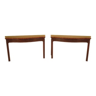 Schmeig & Kotzian Mahogany Console Table - A Pair