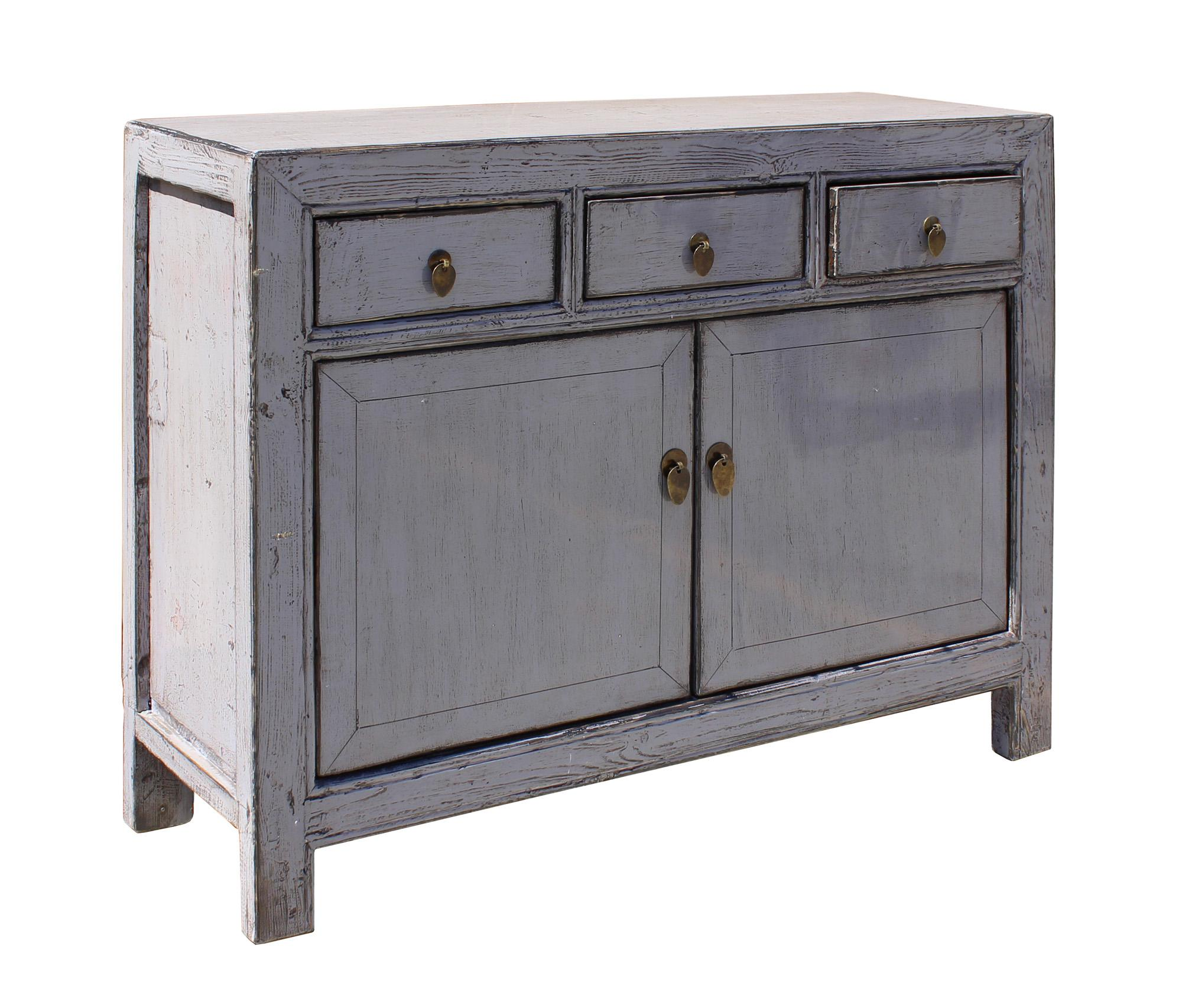 Oriental Simple Light Gray Credenza Sideboard Buffet Table Cabinet Chairish