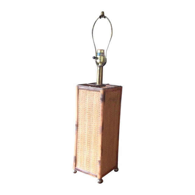 Vintage Rattan Table Lamp - Image 1 of 11