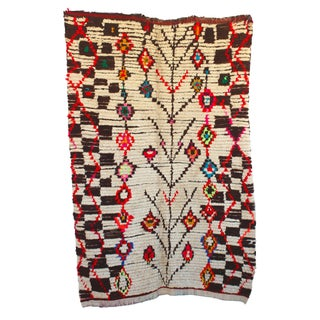"Vintage Ourika Moroccan Berber Rug - 4'9"" X 7'3"""