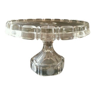 Vintage Clear Glass Cake Salver