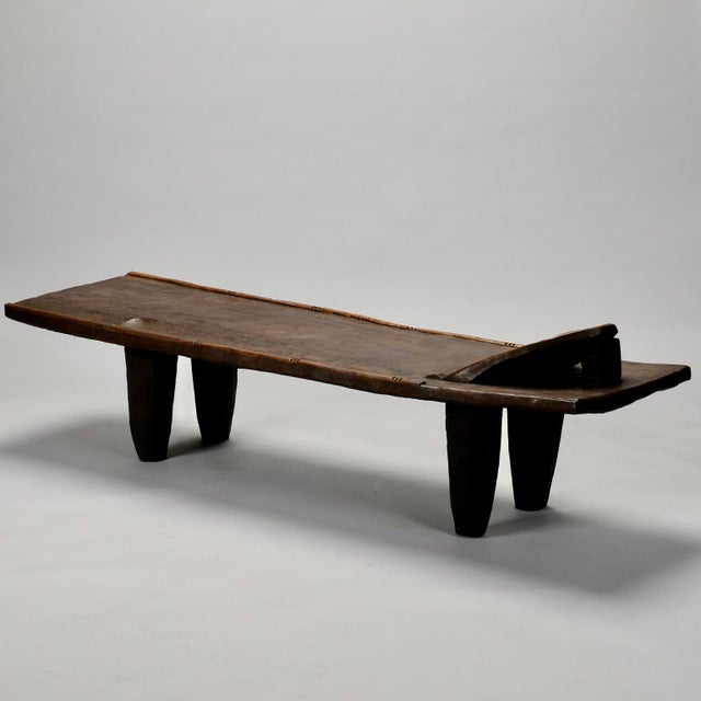 Ivory Coast Dark Wood Senufo Bench - Image 10 of 11
