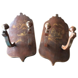 Antique French Chinoiserie Sconces - A Pair