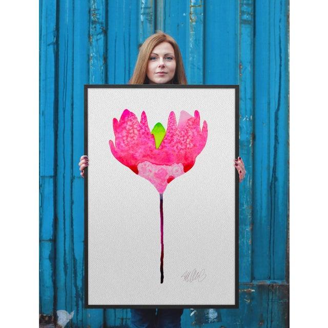 """Pink Sunshine"" Botanical Print - Image 2 of 2"