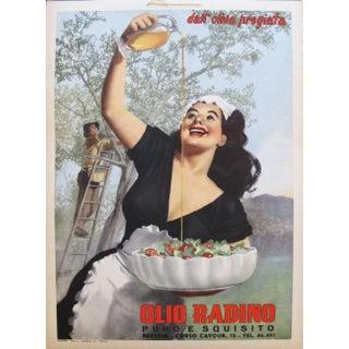 1950 Original Italian Advertising Carton, Olio Radino