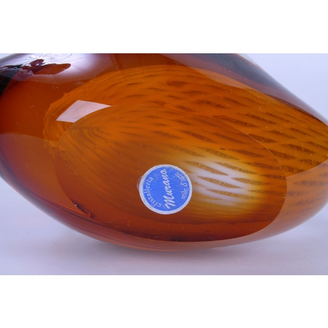 Image of Murano Glass Amber & Yellow Swan