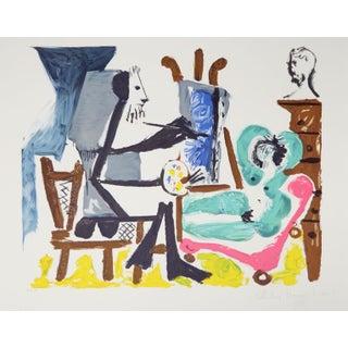 Pablo Picasso Le Peintre Et Son Modele Lithograph