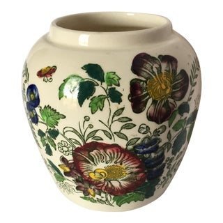 Mason English Floral Ginger Jar-Style Vase