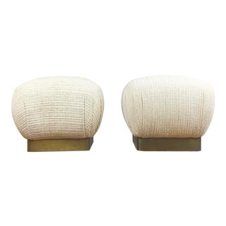 Marge Carson Karl Springer-Style Ottomans - A Pair