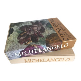 """""""The Complete Work of Michelangelo """" Slip Case Box Monumental Xtra Large Collector Vintage 1965 1st Edtn Book"""