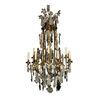 Antique Chandelier. Rock Crystal Chandelier by Baccarat