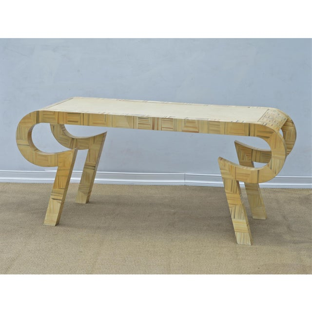 Alessandro Painted & Lacquered Console / Desk for Baker Furniture - Image 4 of 11