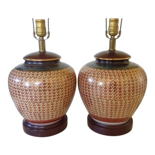Japanese Kutani Lamps - A Pair