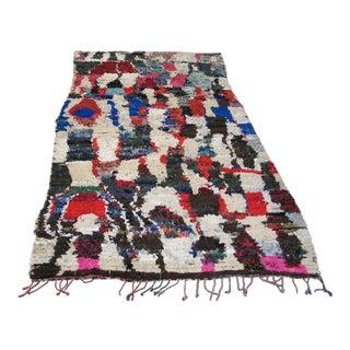 "Traditional Moroccan Wool Rug - 4'8"" x 8'8"""