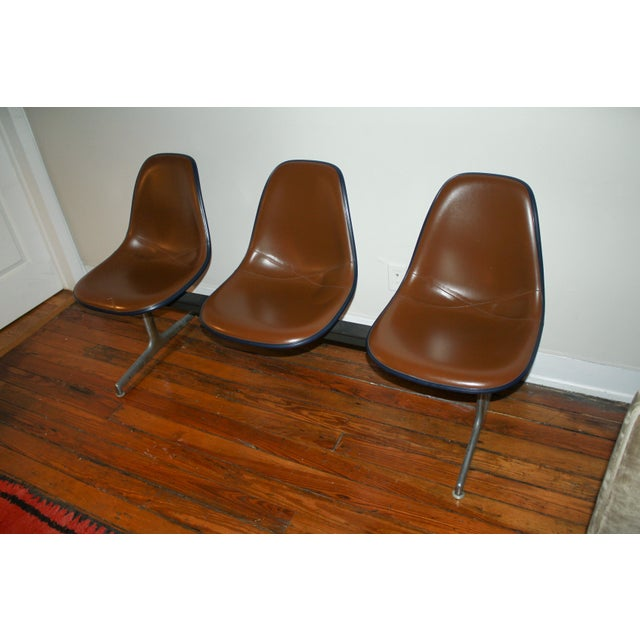 Vintage Eames Tandem Bench Chair - Image 3 of 11