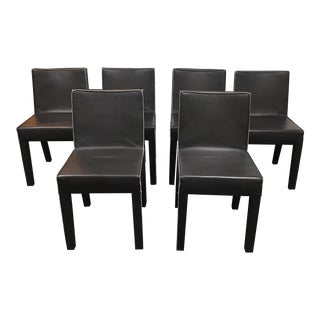Design Within Reach Leather Dining Chairs - Set of 6