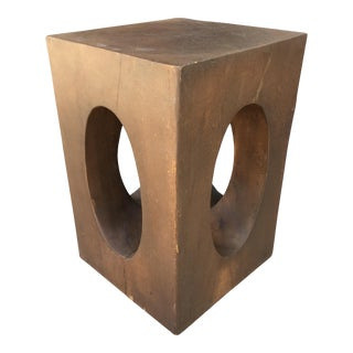 Mahogany Sculptural Side Table