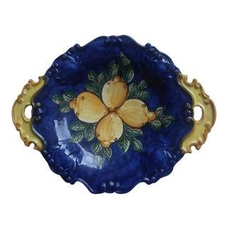 Italian Deruta Large Handled Bowl