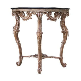 French Console with Chinoiserie Top