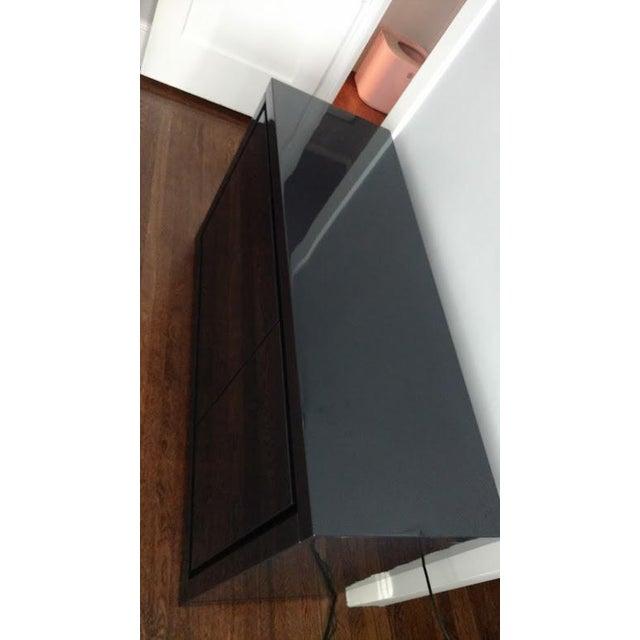 Medium Indigo Lacquered Cabinet Credenza - Image 5 of 8